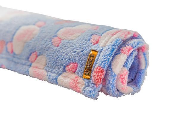 Manta para Cachorro Flannel 3D Azul