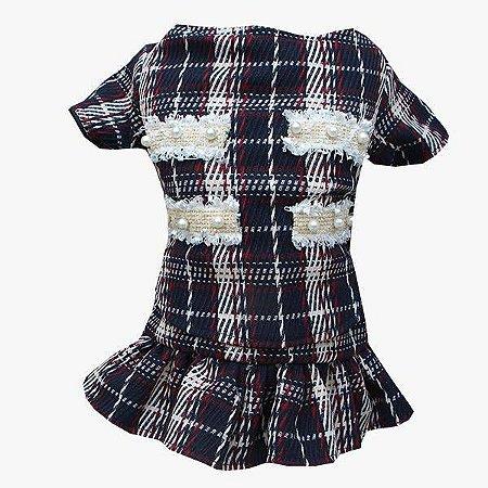 Vestido Para Cachorro Tweed