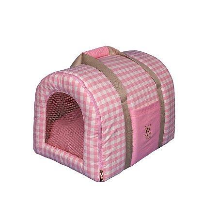 Bolsa De Transporte Pet Woof Classic Lonita Rosa