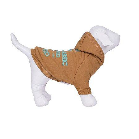 Moletom Para Cachorro Woof Classic High Mostarda
