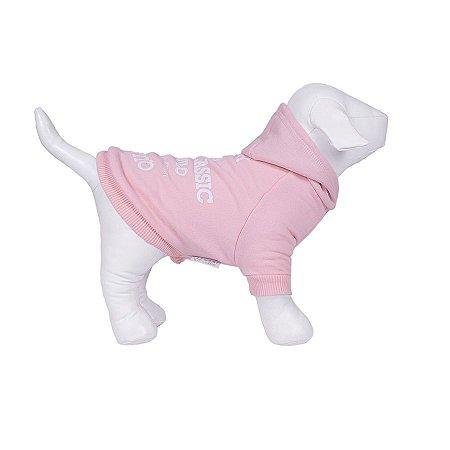 Moletom Para Cachorro Woof Classic High Rosa Bebê 12