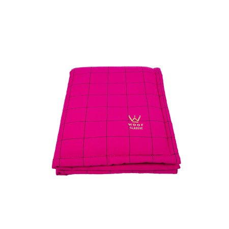 Edredom Para Cachorro Woof Pet Lazzy Grid Pink