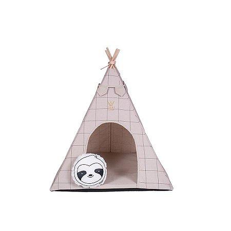 Cabana Para Cachorro Woof Classic Apache Lazzy Grid Areia