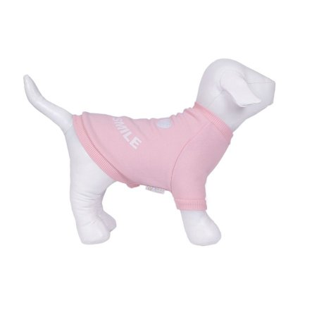 Moletom Para Cachorro Woof Classic Always Smile Rosa Bebê