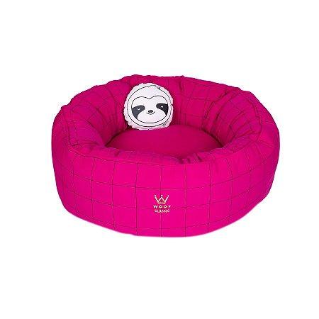 Cama Para Cachorro Woof Classic Fofinha Lazzy Grid Pink