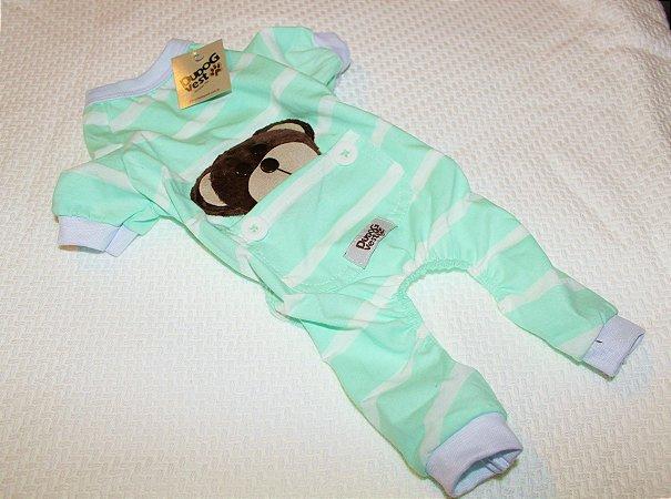 Pijama + travesseiro Dudog Vest - Verde Claro