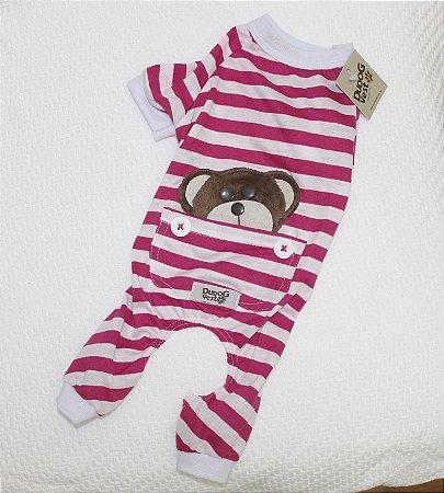 Pijama + travesseiro Dudog Vest - pink