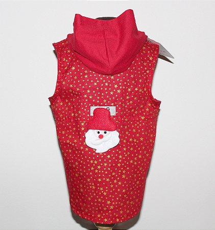 Colete Natal Vermelho e Dourado DuDog Vest