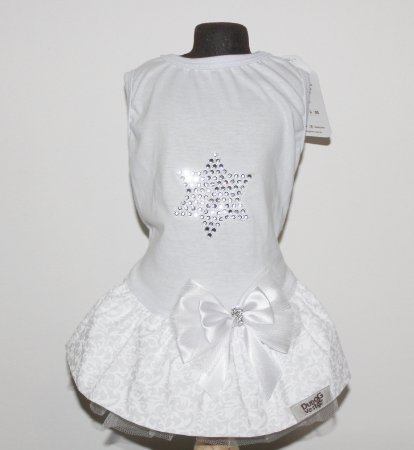 Vestido Branco com Brilho DuDog Vest Ano Novo