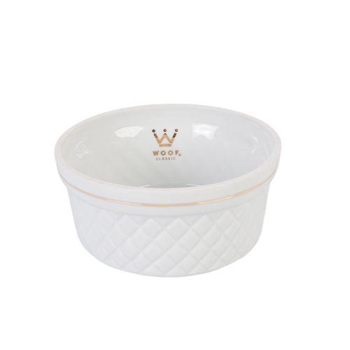Comedouro Porcelana para Cachorro Woof Classic Matelassê