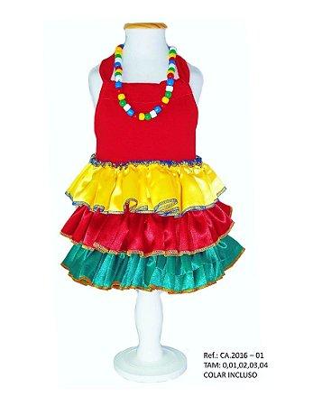 Vestido Fantasia para Cachorro Carmem Miranda