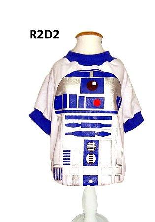 Camiseta para Cachorro Star Wars R2D2