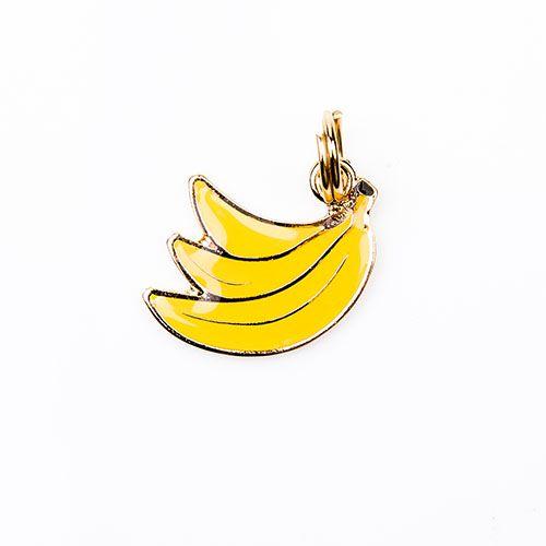 Pingente de Identificação para Cachorro Woof Classic Banana