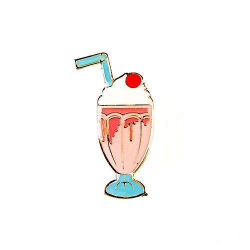 Pin Esmaltado Summer Party - Milk Shake/Morango