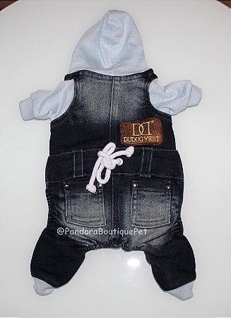 Macacão Jeans Escuro DuDog