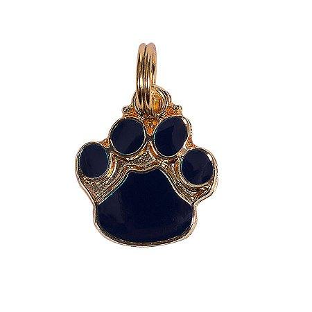 Pingente de Identificação para Cachorro Woof Classic Patinha Azul Marinho