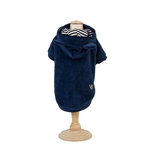 Casaco Plush c/ capuz com orelhinhas - Azul Marinho Woof Classic