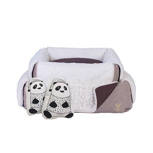 Cama para Cachorro Woof Classic Panda Marrom