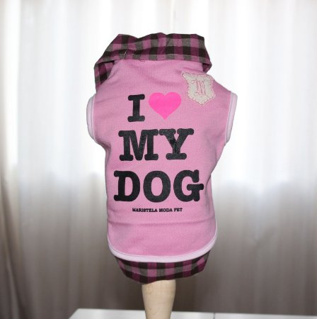 Moletom e camisa I love My Dog  rosa