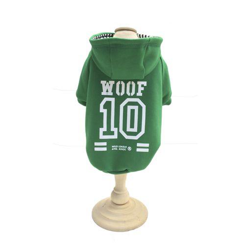 Casaco Moletom c/ Capuz - WOOF 10 Verde
