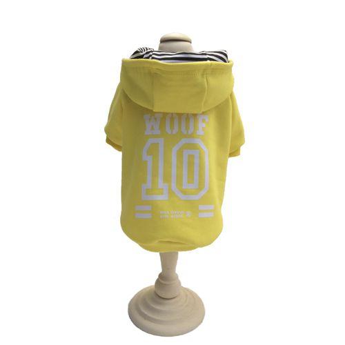 Casaco Moletom c/ Capuz - WOOF 10 Amarelo