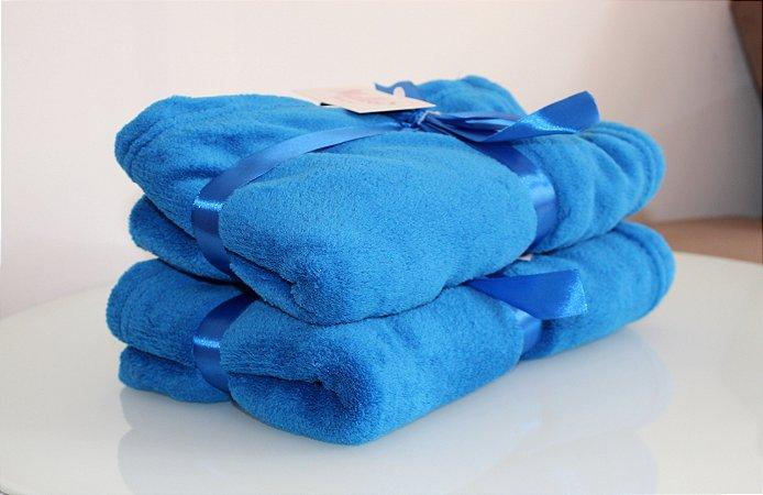 Manta Microfibra Azul Royal Malloo