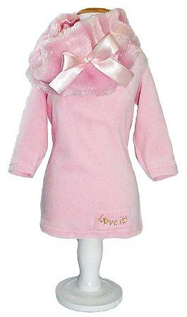 Blusa Love It Pink gola pêlo Dear Dog
