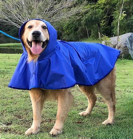Capa de Chuva para Cachorro Malloo Azul
