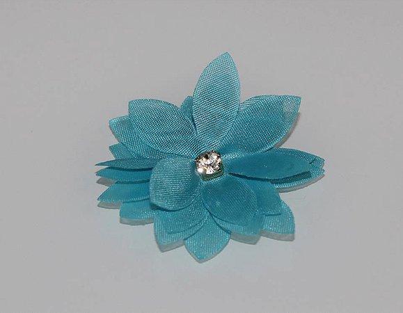 Laço Flor Turquesa