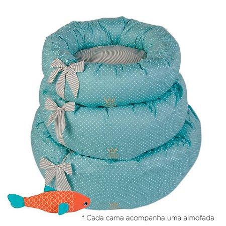 Cama Fofinha Woof Classic Tiffany Poá Deep