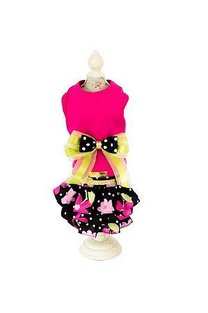 Vestido para Cachorro Pink Floral