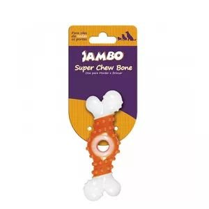 Brinquedo Jambo Osso Super Chew Laranja