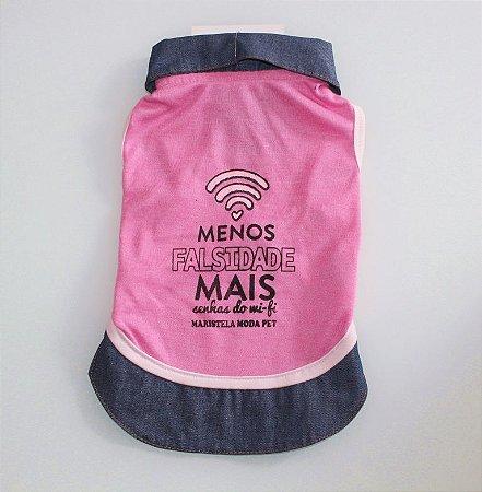 T-shirt 'Menos Falsidade' Maristela Moda Pet