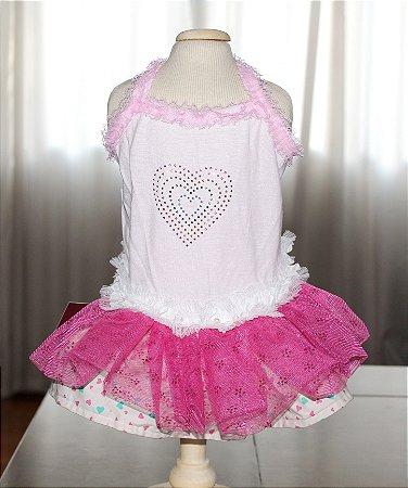 Vestido para Cachorro Maristela Moda Pet Heart