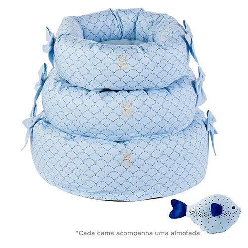 Cama Fofinha Sereia/Azul Woof Classic Deep