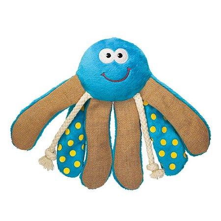 Brinquedo Kong Giggles Octopus Medio Azul para Cães