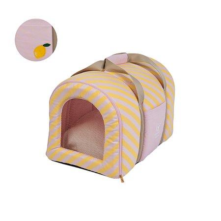 Bolsa Transporte Pet Woof Classic Rosa e Limão Sici PicNic