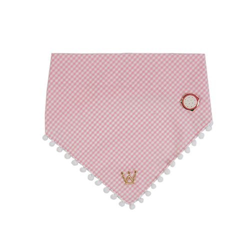 Bandana Woof Classic Pink Pitaya com PIN PicNic