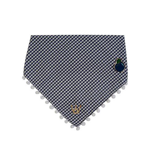 Bandana Woof Classic Marinho Blueberry com PIN PicNic