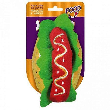 Brinquedo Jambo Mordedor Pelúcia Food Hot Dog