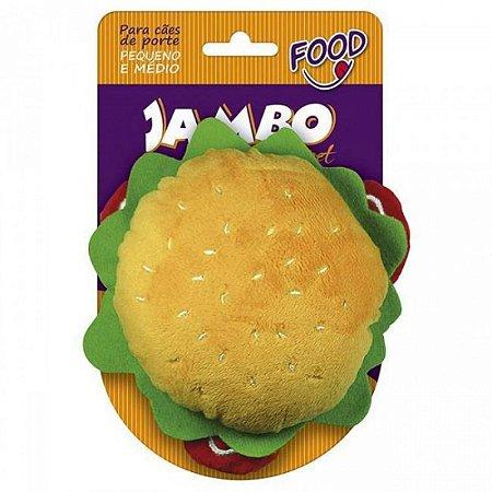 Brinquedo Jambo Mordedor Pelúcia Food Hambúrguer