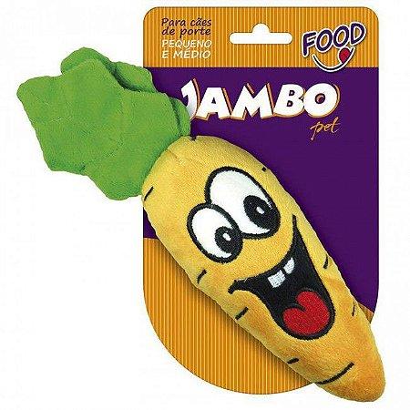 Brinquedo Jambo Mordedor Pelúcia Food Cenoura