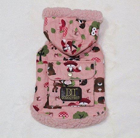 Casaco Floresta rosê DuDog Vest