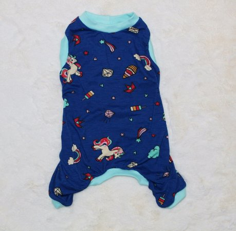 Pijama para Cachorro Malloo Unicórnio Azul