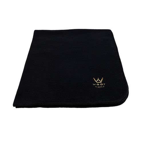 Cobertor Microsoft Crochê Preto Woof Classic
