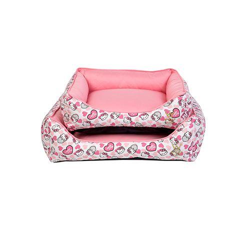 Cama Retangular para Cachorro Woof Classic Hello Kitty Rosa