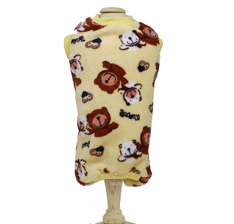 Pijama para Cachorro em Microfibra Macacão Malloo Ursinhos