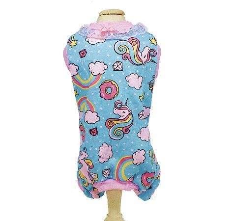 Pijama para Cachorro Malloo Unicórnio Tiffany