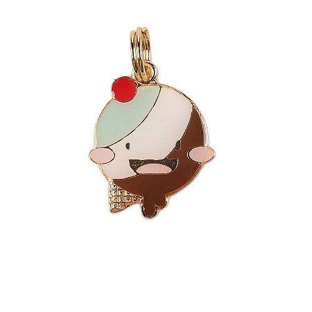 Pingente de Identificação para Cachorro Woof Classic Ice Land Happy Menta e Chocolate