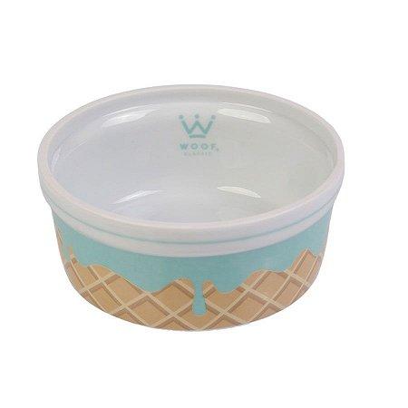 Comedouro para Cachorro em Porcelana Woof Classic Ice Land Casquinha Menta